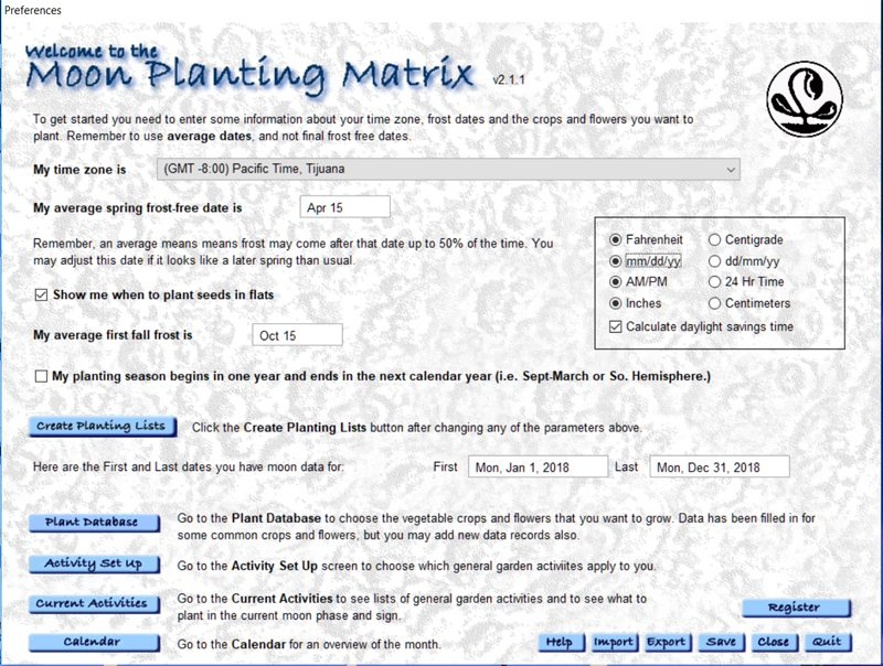 Moon Planting Matrix Gardening By The Moon